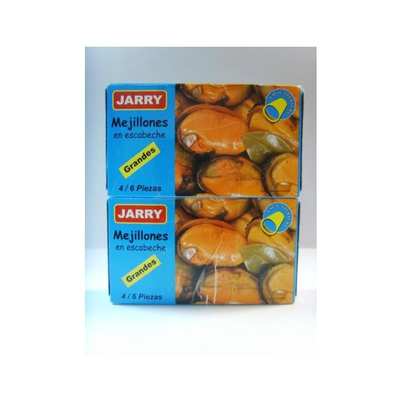 "image: MEJILLONES EN ESCABECHE GRANDES ""JARRY"" PACK 2"