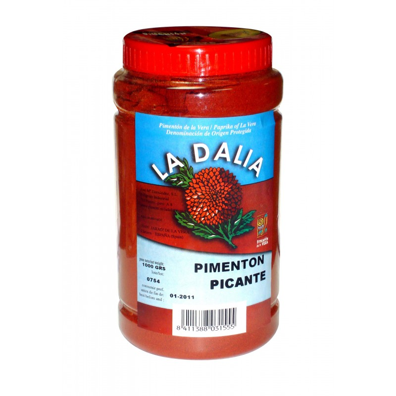 "image: PIMENTON DE LA VERA PICANTE  ""LA DALIA"", Bote de 1kg."