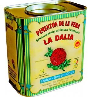 """PIMENTÓN DULCE """"LA DALIA"""", LATA  de 1.750KG."""
