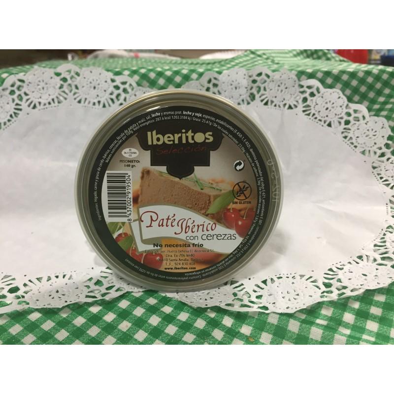 Paté ibérico con cerezas, iberito, 1.40gr