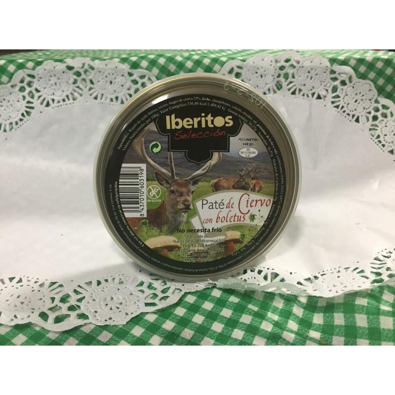 Paté de ciervo con boletus, iberitos, 140g