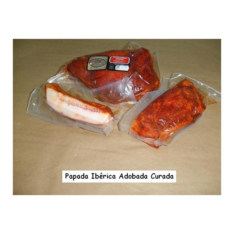 PAPADA IBÉRICA ADOBADA CURADA (MITADES)