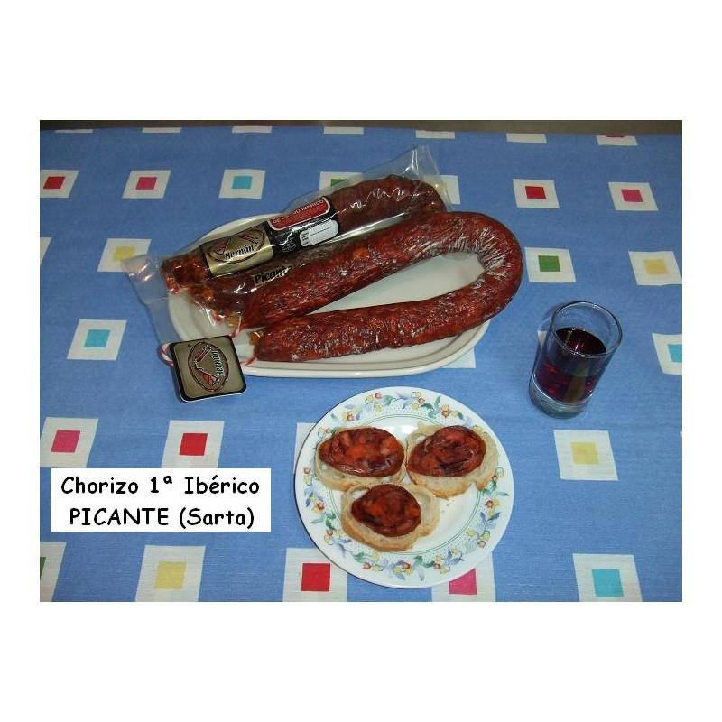 Chorizo 1ª ibérico picante sarta