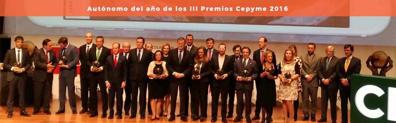 Autónomo del año de los III Premios Cepyme 2016